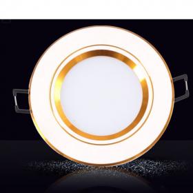 Đèn LED âm trần 3 chế độ 7w viền vàng